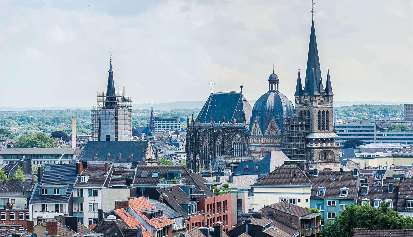 Blick auf die Altstadt von Aachen
