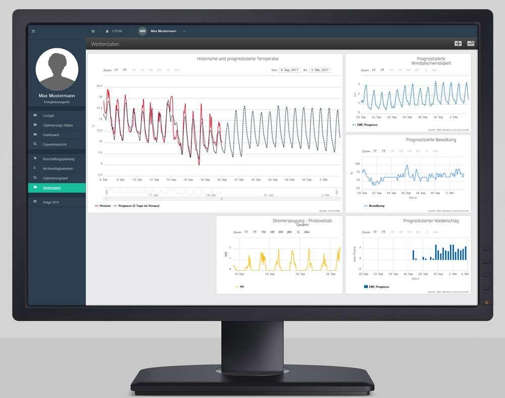 Screenshot Energiemanagement in Echtzeit