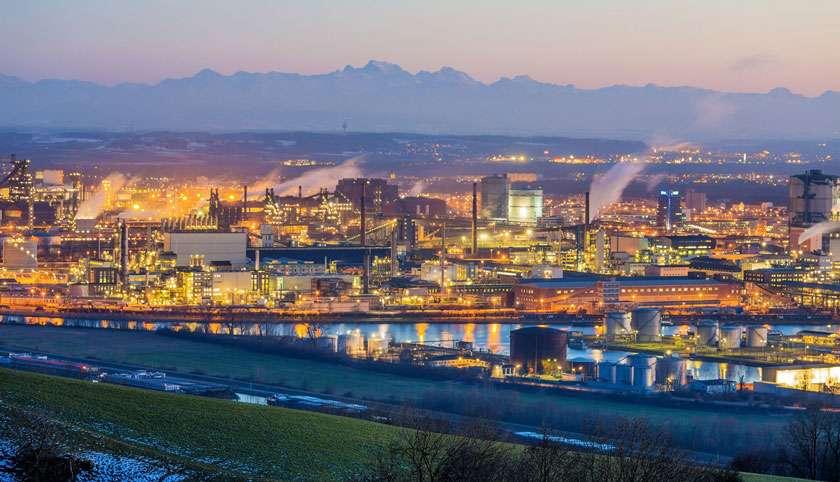Blick auf Industriegebiet