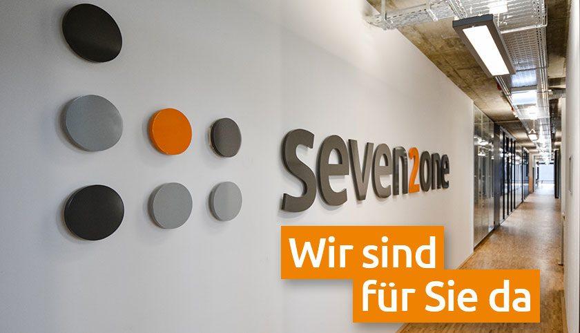"""Seven2one Büro """"Wir sind für Sie da"""""""