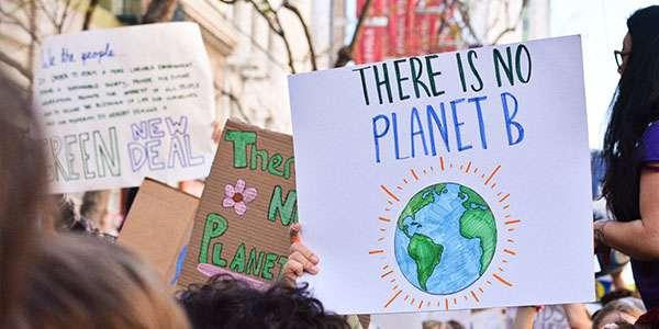 Plakate Klimastreik