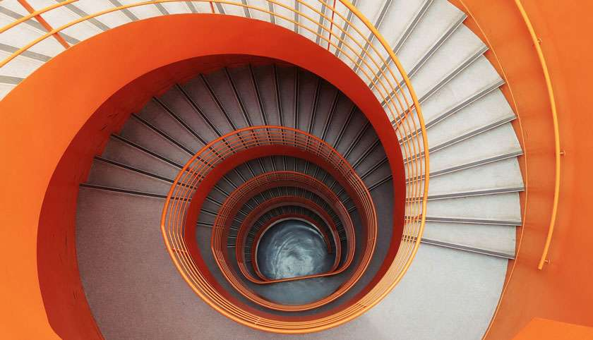 Wendeltreppe Orange